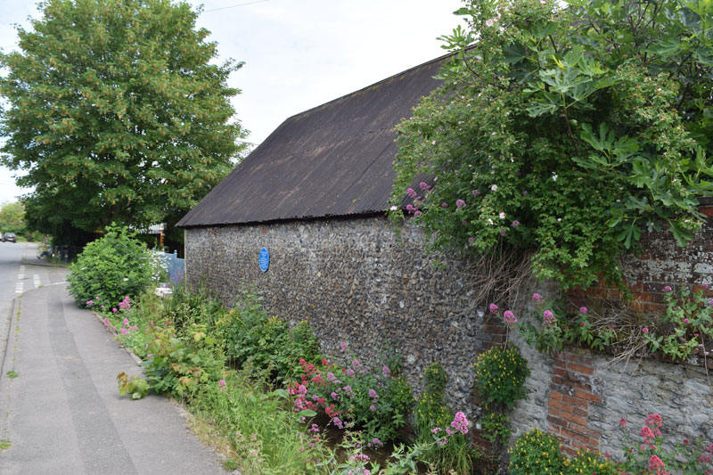 The Barn, with blue plaque
