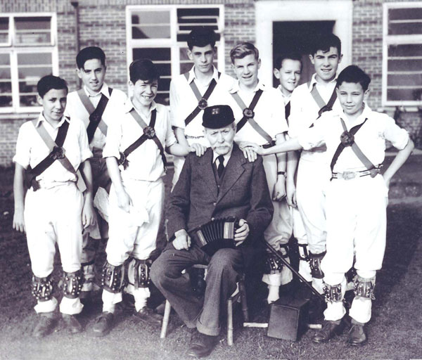 William Kimber with young morris dancers
