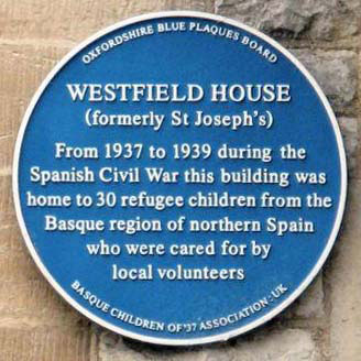 Westfield House plaque