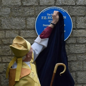 Unveiling of Robinson plaque